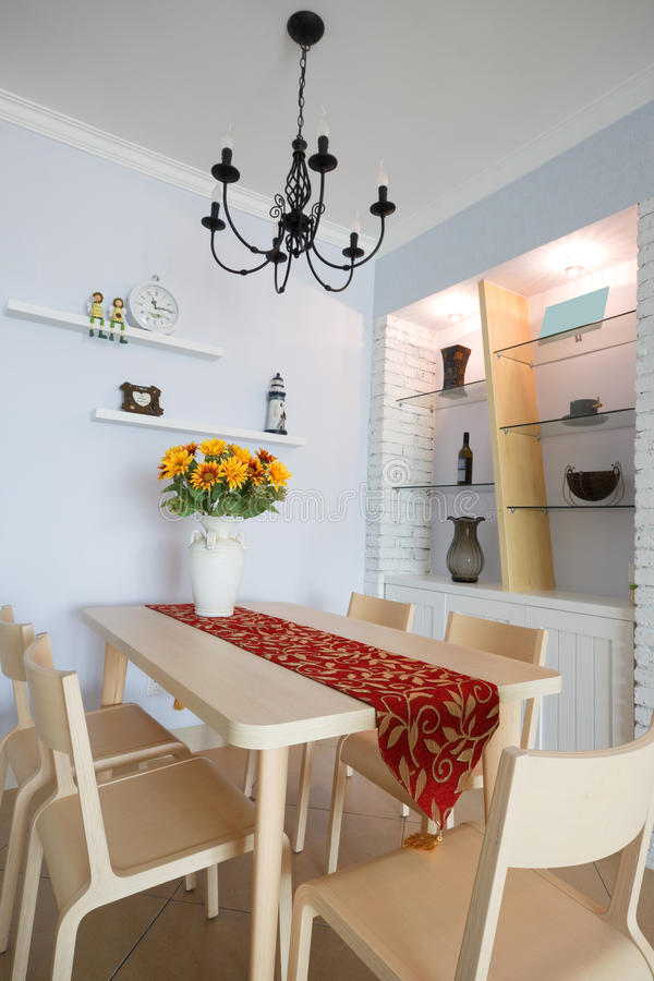 Sala de jantar moderna fotos de stock royalty free
