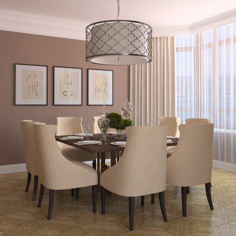 Download Sala de jantar moderna. ilustração stock. Ilustração de assento - 16851749