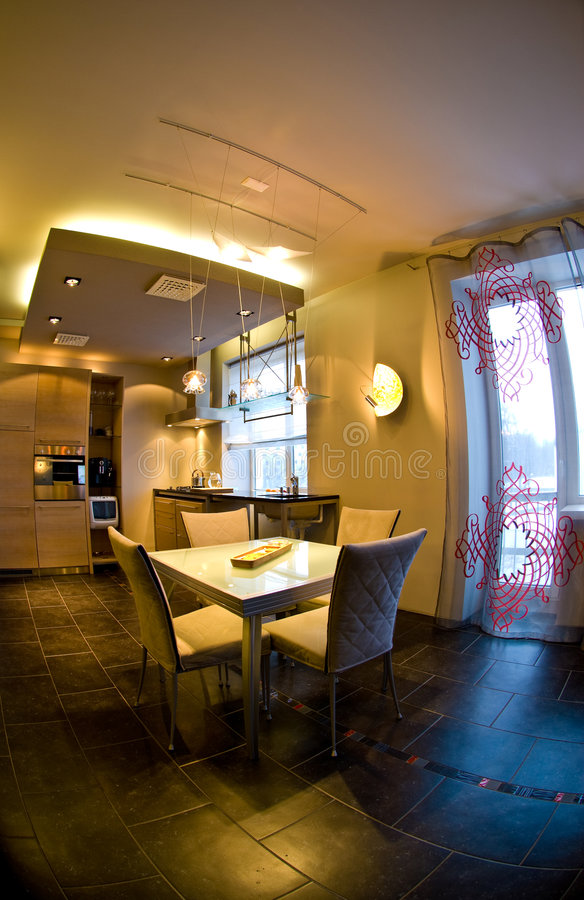 Sala de jantar moderna   fotografia de stock royalty free