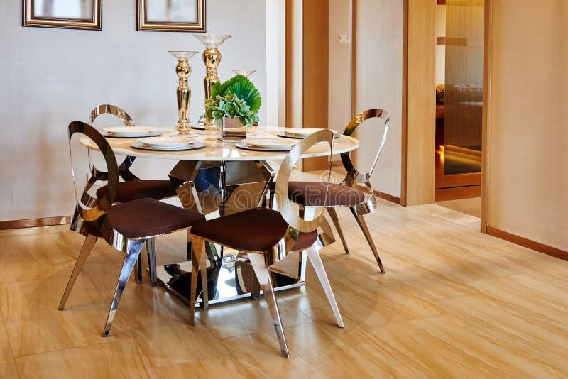 sala de jantar moderna luxuosa fotografia de stock