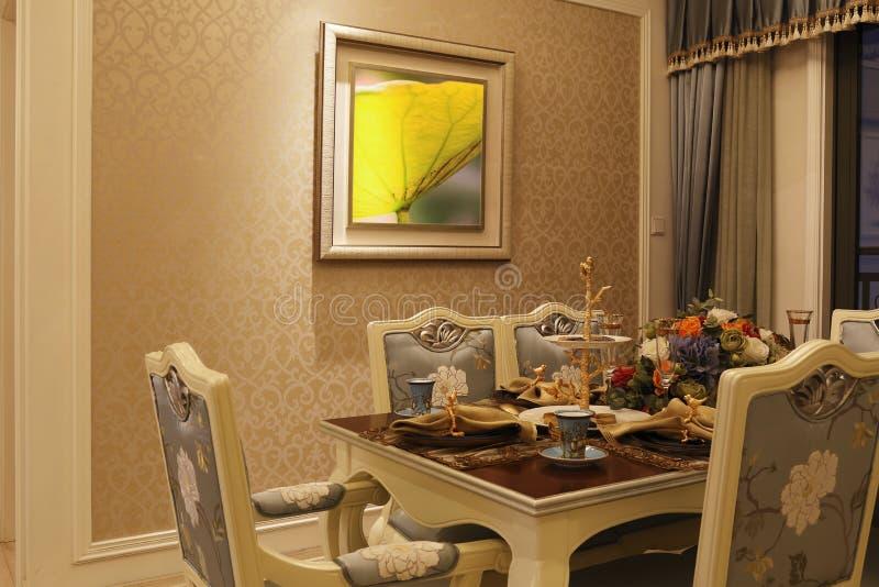 Sala de jantar no apartamento imagens de stock