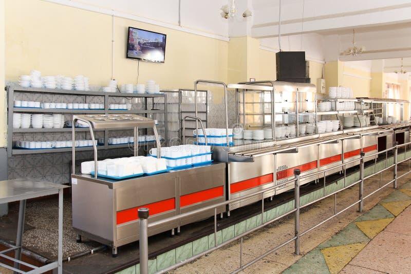 Sala de jantar no armiyu Que para comer forças armadas Foto real do exército, sobre a vida dos soldados Forças armadas do aliment imagens de stock royalty free