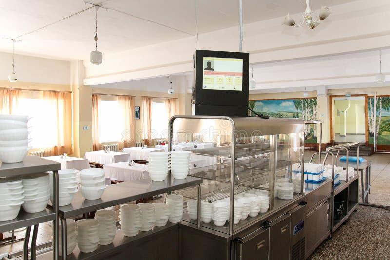 Sala de jantar no armiyu Que para comer forças armadas Foto real do exército, sobre a vida dos soldados Forças armadas do aliment imagem de stock
