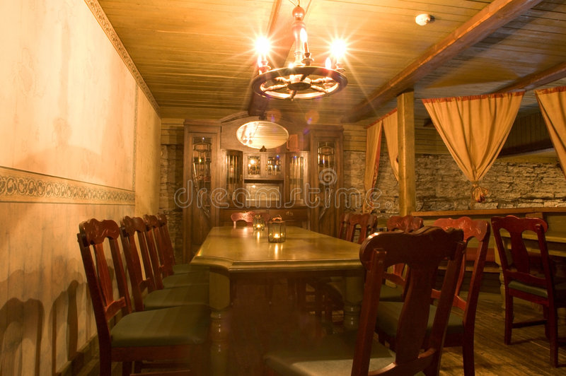 Sala de jantar retro fotografia de stock