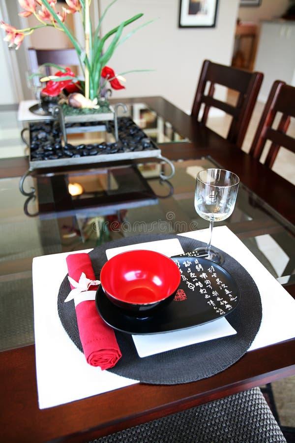 Sala de jantar temático asiática imagens de stock royalty free
