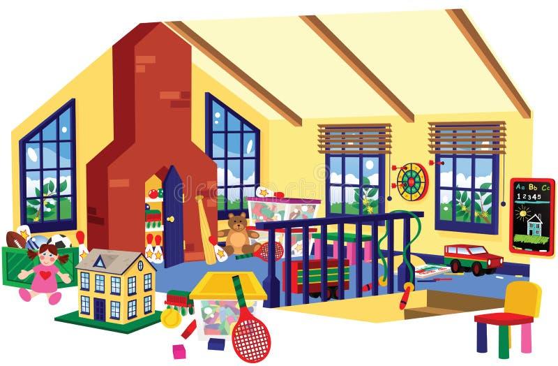 Sala de jogos das crianças ilustração royalty free