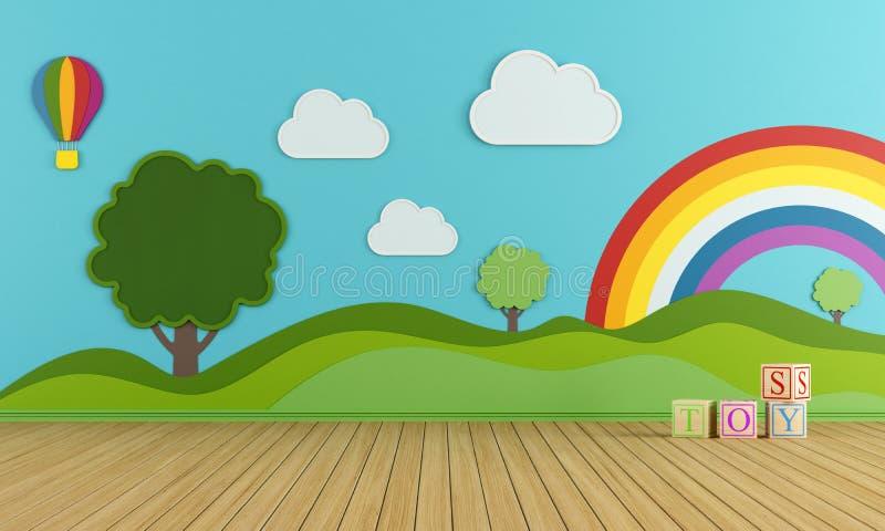 Sala de juegos colorida libre illustration