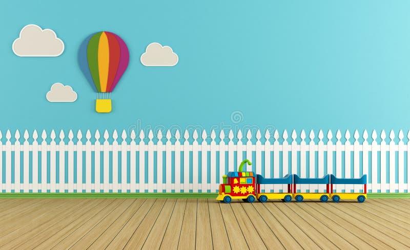 Sala de juegos colorida vacía libre illustration