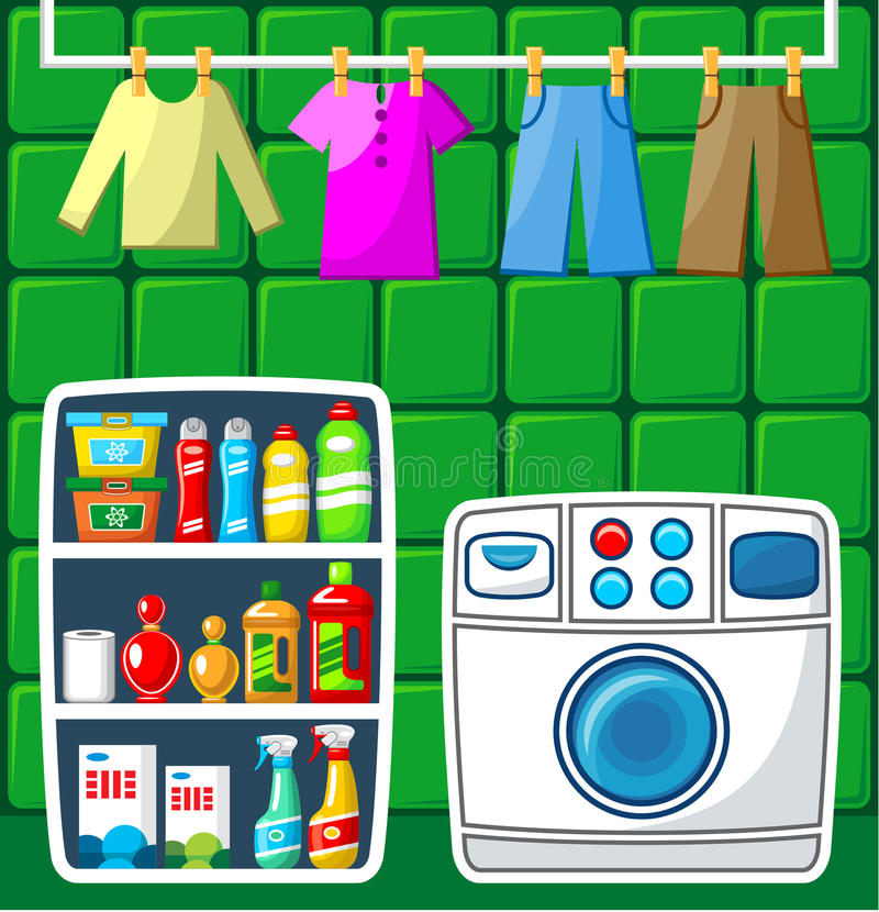 Sala de lavagem. ilustração do vetor