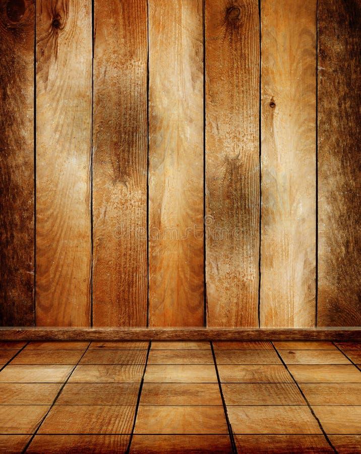 sala de madeira velha com assoalho de parquet imagem de stock royalty free