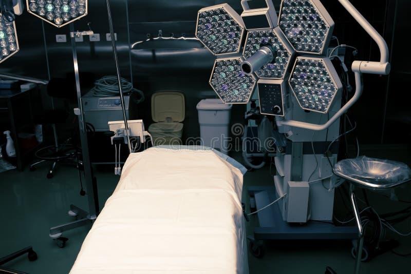 Sala de operações em um moderno do hospital equipada para a cirurgia imagens de stock