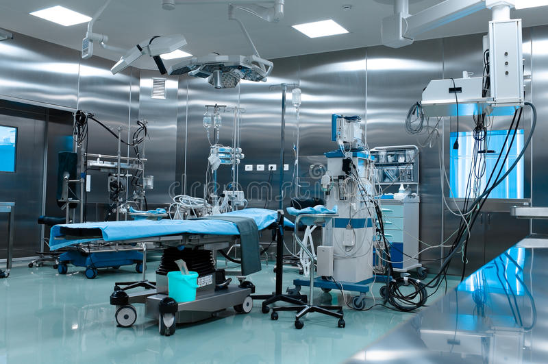 Sala de operações na cirurgia cardíaca fotografia de stock royalty free