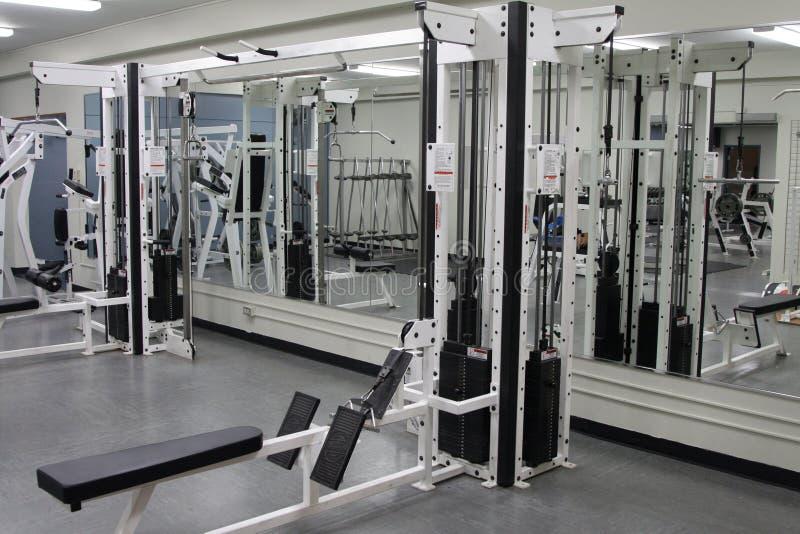 Sala de pesas foto de archivo