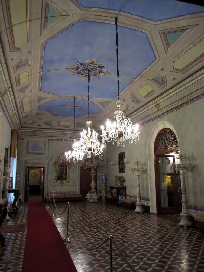 Sala de recepción del palacio fotografía de archivo