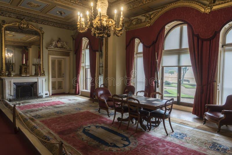 Sala de recepción en la isla de la casa de Osborne del Wight foto de archivo