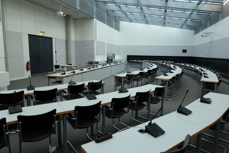 Sala de reunião dentro do Bundestag foto de stock