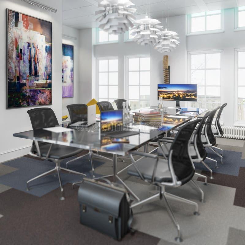 Sala de reunião no detalhe do conceito ilustração stock