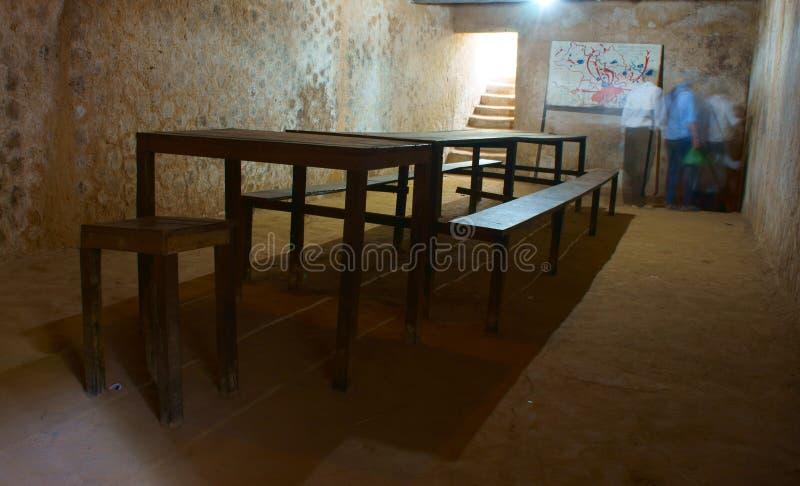 Sala de reunião subterrânea no túnel do qui do Cu fotos de stock royalty free