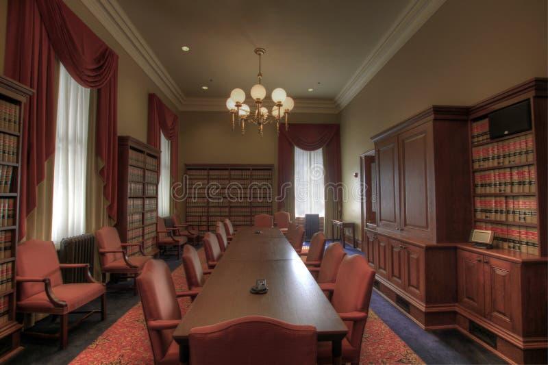 Sala de reunión de la biblioteca de ley fotos de archivo