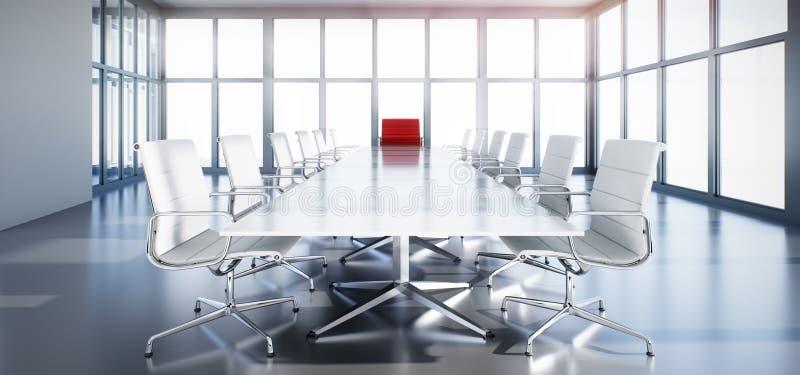 Sala de reunión elegante en un alto edificio de la subida libre illustration