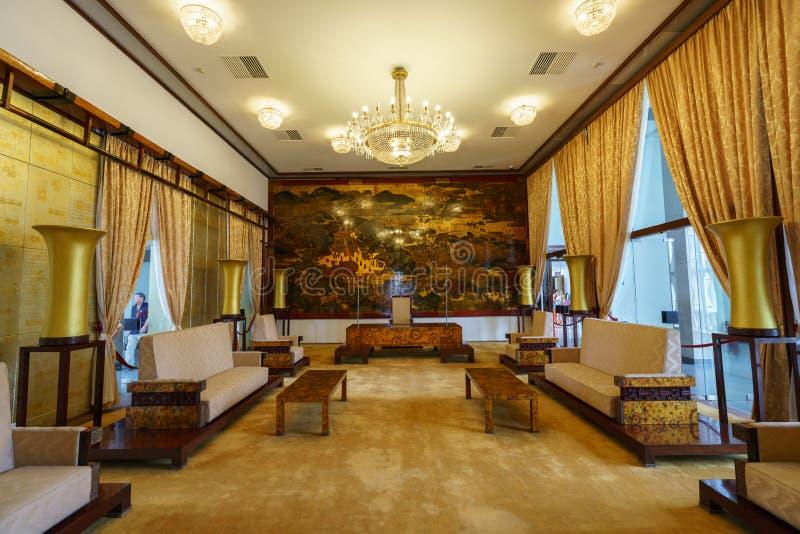Sala de reunión en el palacio de la independencia imagen de archivo
