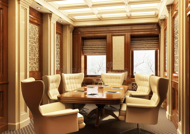 Sala de reunión hermosa en estilo clásico imagen de archivo