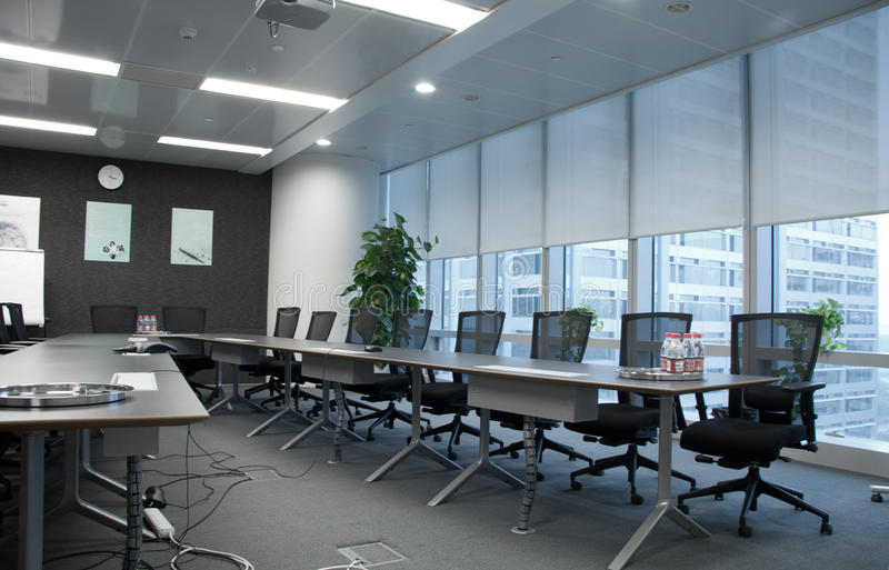 Sala de reunión vacía imagen de archivo libre de regalías