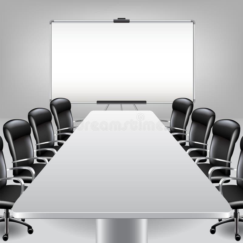 Sala de reunión y vector vacíos del tablero de la presentación libre illustration