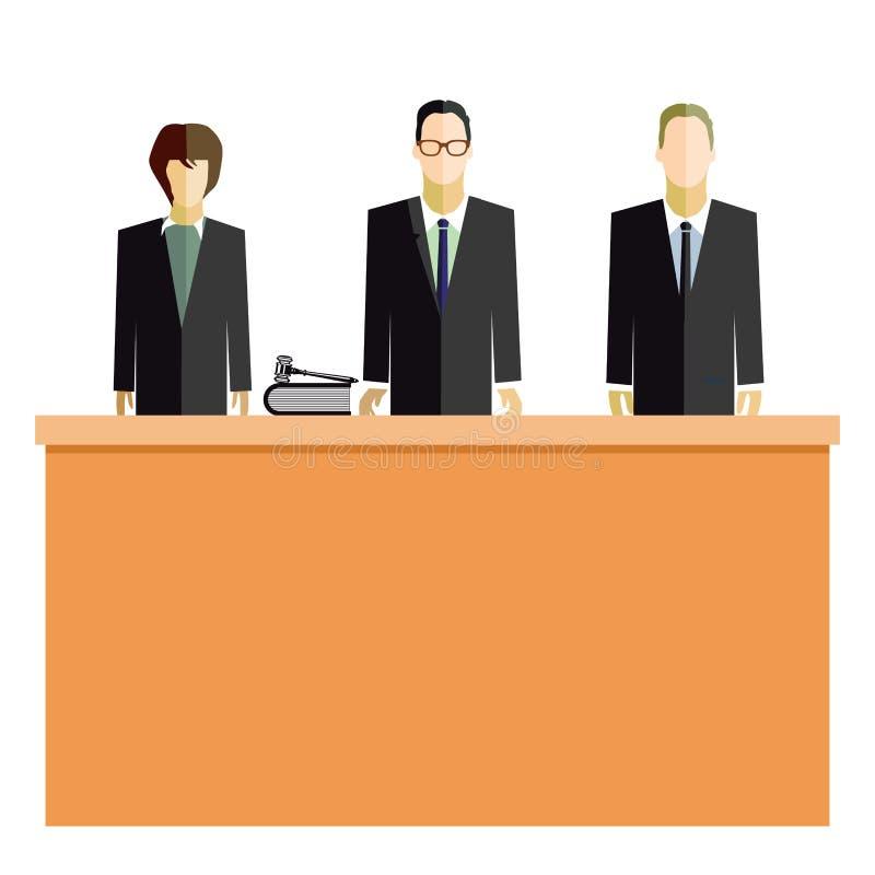Sala de tribunal stock de ilustración