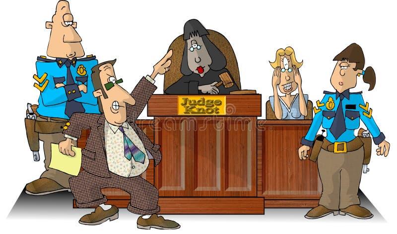 Sala de tribunal I stock de ilustración