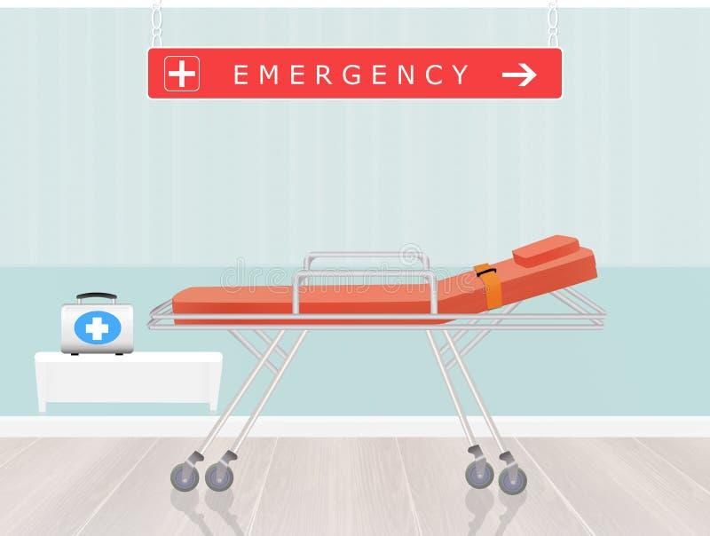 Sala de urgencias stock de ilustración