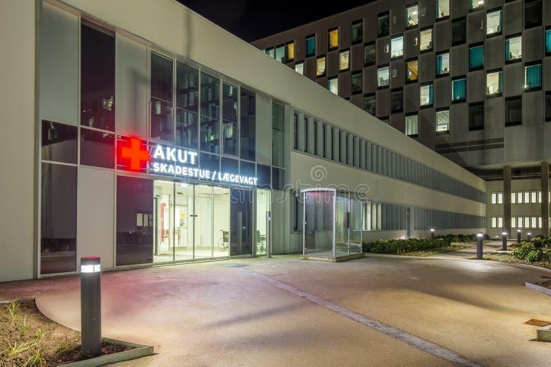 Sala de urgencias en el hospital de Kolding imagen de archivo libre de regalías