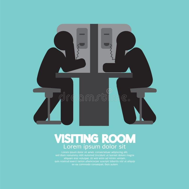 Sala de visita do visitante e do prisioneiro ilustração stock
