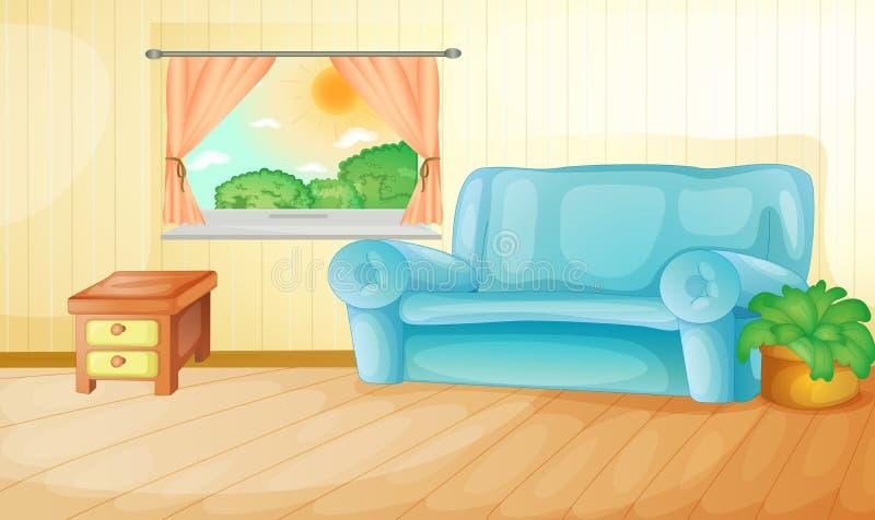 Sala de visitas ilustração do vetor