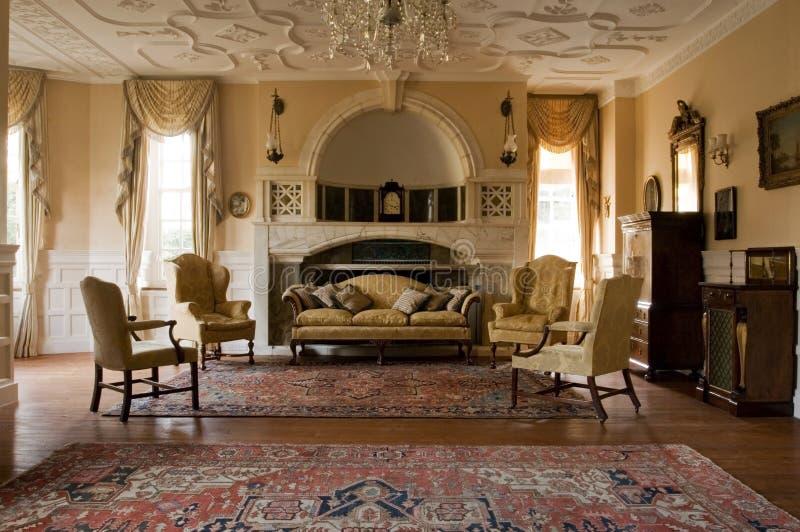Sala de visitas clássica imagens de stock royalty free