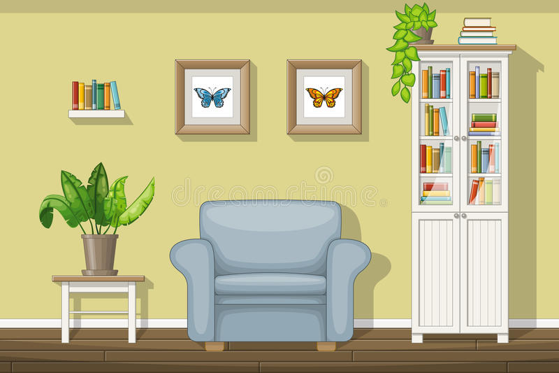 Sala de visitas clássica ilustração royalty free