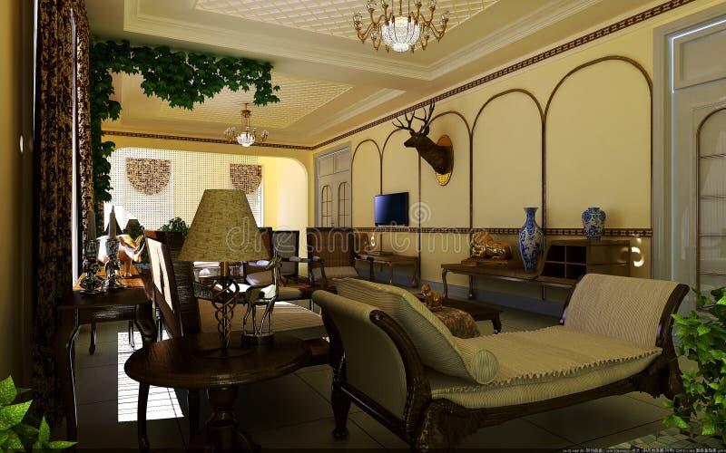 Sala de visitas clássica ilustração stock