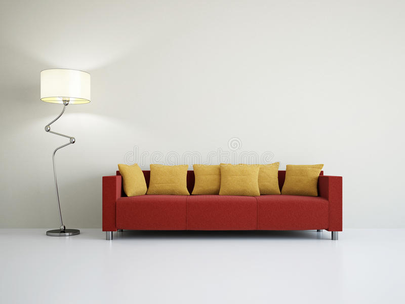 Sala de visitas com sofá fotografia de stock
