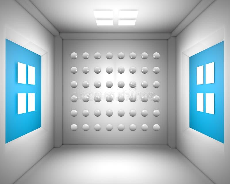 sala de visitas 3d do desenho ilustração stock