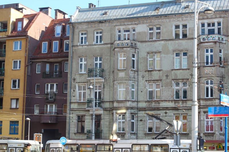 Sala de visitas da fachada em Wroclaw Cidade velha Wroclaw, poland fotografia de stock royalty free