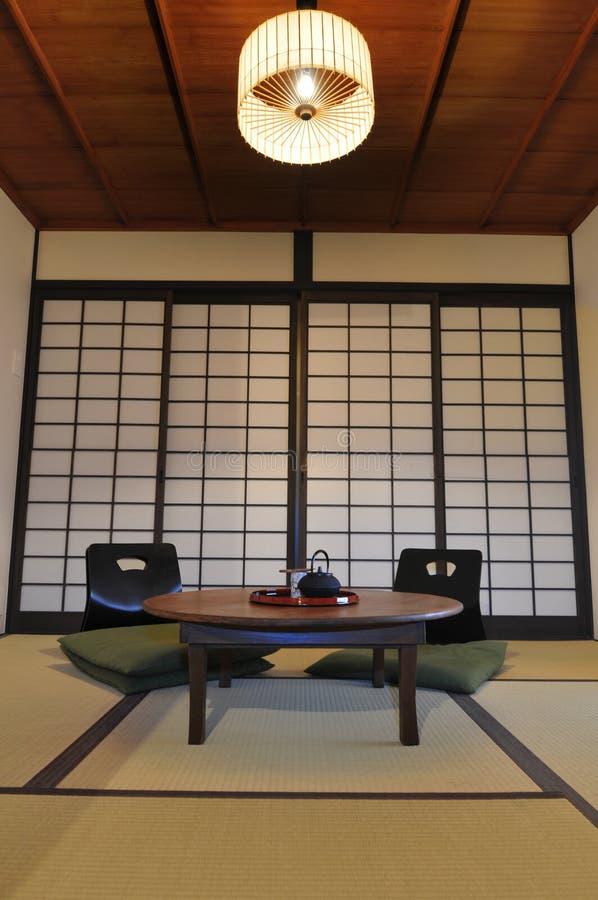 Sala de visitas de Ryokan fotografia de stock