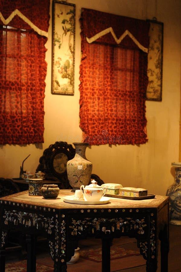 Sala de visitas do estilo chinês fotografia de stock