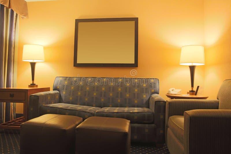 Sala de visitas do hotel imagem de stock