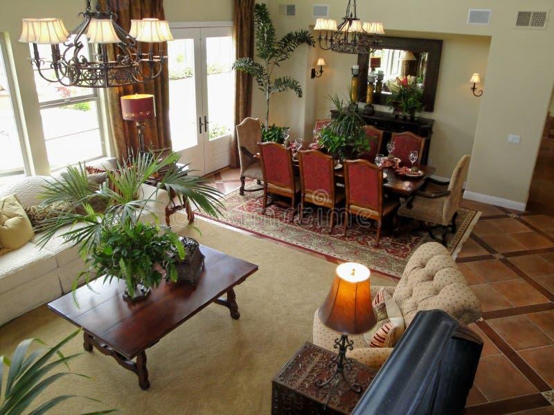 Sala de visitas e sala de jantar fotografia de stock royalty free