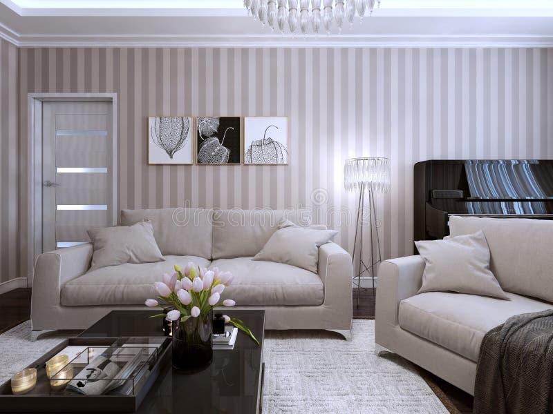 Sala de visitas em um estilo moderno