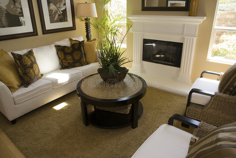 Sala de visitas home luxuosa fotografia de stock royalty free