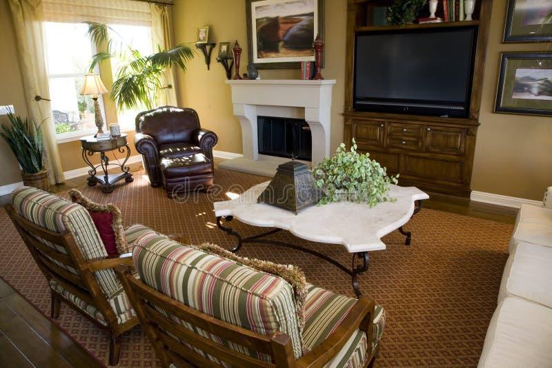 Sala de visitas home luxuosa foto de stock