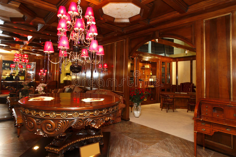 Sala de visitas luxuosa fotografia de stock royalty free
