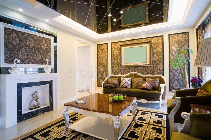 Sala de visitas luxuosa fotografia de stock