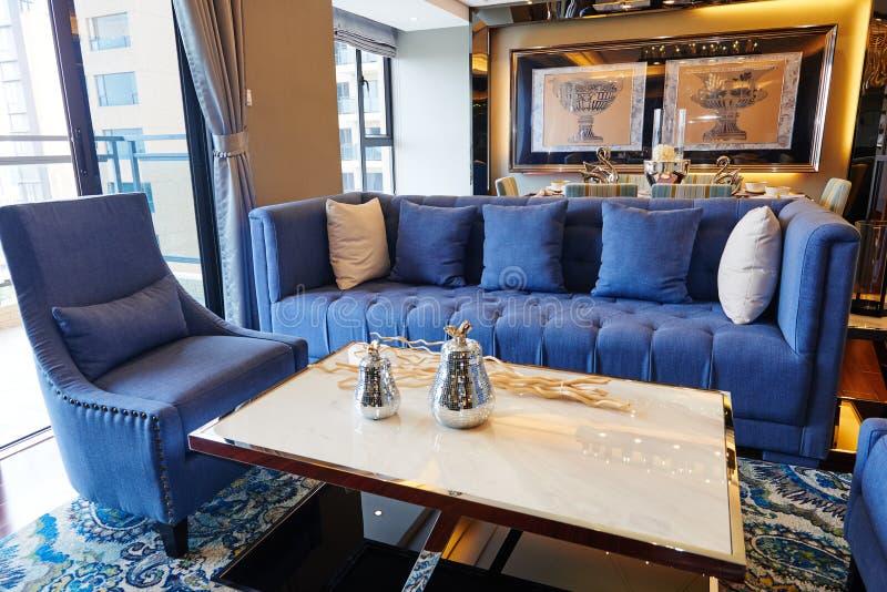 Sala de visitas luxuosa fotos de stock royalty free